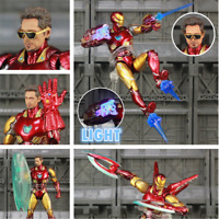 """Marvel LED Avengers 4 Endgame Iron Man MK85 6"""" Repainted Custom Action Figure"""