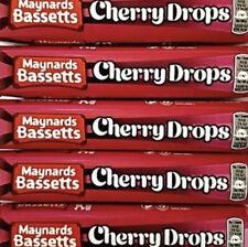 Maynards Bassetts Cherry Drops Std Size 5/10 Rolls 45g.  Free P&P