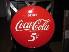 Vintage Coca Cola Porcelain Button Sign
