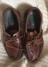 SPERRY TOP SIDER MAKO 2-TONE BROWN LEATHER DECK BOAT SHOES LOAFERS 8 FREE SHIP