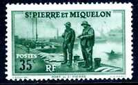 French St Pierre Miquelon 35¢ Fisherman Commem MNH D778 ⭐⭐⭐⭐⭐