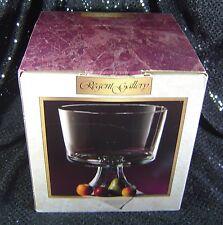 "Regent Gallery 8"" Elegant Clear Glass Trifle Dessert Bowl on Pedestal NIB NEW"