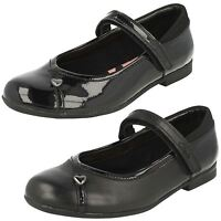 Girls Clarks Dolly Babe Black Leather Or Patent School Shoes