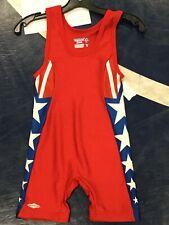 Brand New Youth Matman Red White Blue Wrestling Singlet- 3Xs 55-75