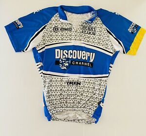 cycling jersey short sleeve Mens XL Discovery Channel Pockets at Back W20in