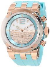mulco watches parts accessories mulco women s bluemarine mw5 1621 413 rose gold rubber swiss chronograph watch