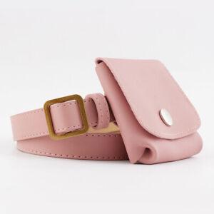 Ladies Waistband Women's Waist Belt With Mini Bag Faux Leather Jeans Dress Decor
