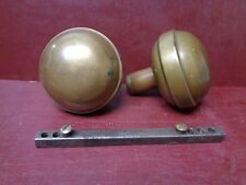 2 ANTIQUE BRASS BRONZE DOOR KNOBS #16