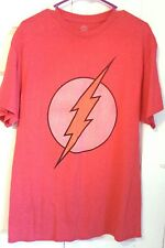 Flash DC Comics The Flash T shirt men's Large Short Sleeve retro distressed red