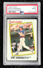 1987 Fleer League Leaders Ryne Sandberg #39 Baseball Chicago Cubs PSA 9 MINT