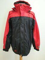 I20 MENS HELLY HANSEN BLACK RED LIGHTWEIGHT HOODED JACKET UK MEDIUM M EU 50
