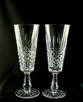 """KENMARE by Waterford Crystal Fluted CHAMPAGNE Glasses 8"""" Set of 2 Old Font"""