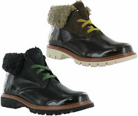 Caterpillar CAT Hub Fur Leather Lace Up Womens Ankle Boots Shoes UK4-8