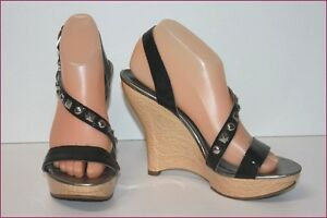 Guess Wedge Sandals Synthetic And Wood T 8 US/ T 40 Fr Mint