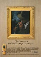 Colibri Quantum Force V Cigar Lighter PRINT AD 1996 Fine Art Rare