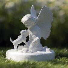 Gedenkstein Hund mit Engel Deko Grabschmuck Hunde