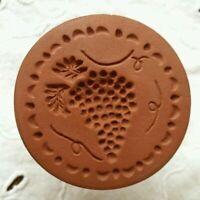 Vintage Rycraft Grape Cluster Cookie Craft Butter Stamp Brown Sugar softener