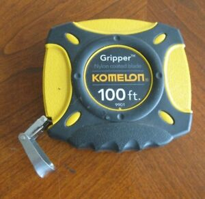 Komelon 9901 Gripper 100 Foot Long Steel Tape Measure Excellent Condition