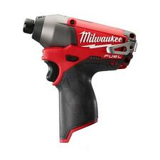 "MILWAUKEE FUEL LITHIUM-ION 12V M12 BRUSHLESS 1/4""HEX IMPACT DRIVER  2453-20 NEW"