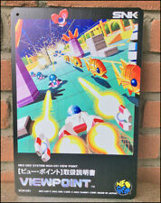 VIEWPOINT - RARE Metal Wall Tin Sign Arcade Game Poster snk neo geo neogeo