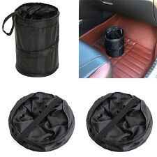 1xWastebasket Trash can Litter Container Car Auto Pop Up Garbage Bin Bag