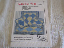 Patio Lights T723 Quilted Table Topper Runner & Place Mats New Sewing Pattern
