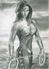 A00630 realistic Wonder Woman by Cliff *NOT A PRINT* original art drawing comics