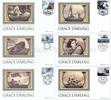 BS715-720 BENHAM SILK 2008 FIRST DAY COVERS SET FDC SAFETY AT SEA GRACE DARLING