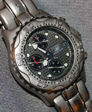 Fossil Speedway Titanium TI-5010 Men's Watch Chronograph Gray NEW BATTERY!