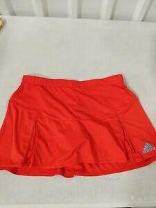 PreOwned Adidas Tennis Skirt Athletic Skort Climalite Orange Women Size Medium