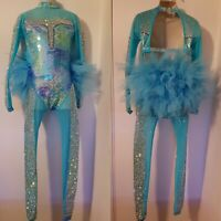 BRAND NEW 9-10YRS SLOW SUIT FREESTYLE DANCE COSTUMES/DANCEWEAR