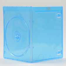 2pcs Empty Blu-ray Logo Case 7mm Single CD DVD Disc Cover Storage Replacement