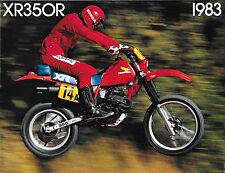 '83 Honda XR350 XR350R Sales Brochure