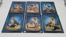 Bradford Exchange Police Dog Collector Plates by Linda Pickens = Lot of 6 Pieces