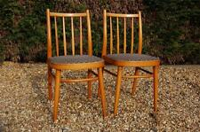 2 x Vintage Retro Spindle Backed Tapered Legged Kitchen Chairs - Mid Century