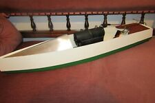 BOWMAN STYLE SCRATCH BUILT LIVE STEAM BOAT 27 inch long