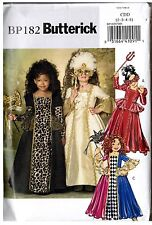 Retired Butterick BP182 Child Girls Masquerade Costume Dress PATTERN Sz 2 3 4 5