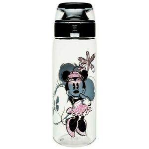 Minnie Mouse Sketch Water Bottle Clear