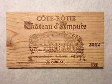 1 Rare Wine Wood Panel Chateau d'Ampuis Côte Rôtie Vintage CRATE BOX 5/18 743
