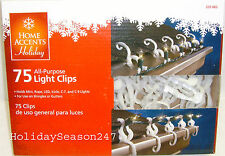 75 All Purpose Holiday Christmas Gutters Shingles Roof Light Clips Hook Hanger