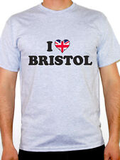 I LOVE BRISTOL - South West England / UK / Britain / Novelty Themed Mens T-Shirt