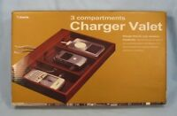 Charger Valet 3 Compartments Made By T. Harris Wooden Construction With OB (O)