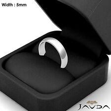 5mm Dome Plain Polish Platinum Men High Polish Wedding Band Ring 7.9g Size 9-9.5