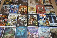 lot 24 jeux PC surtout stratégie, guerre, enquête...