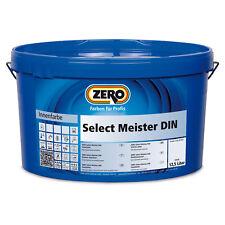 ZERO Select Meister DIN Wandfarbe Innenfarbe Profiqualität 12,5 L weiß