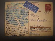 jewish judaica WW2 letter germany to palestine Juden gemeinde Holocaust reich