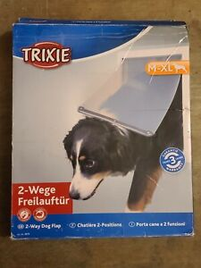 TRIXIE Durable Medium to Extra Large 2-Way Dog Door with Transparent Flap *READ*