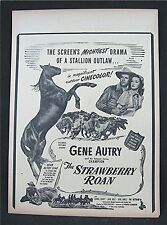 1948 The Strawberry Roan Old Movie Poster Broadside Gene Autry Gloria Henry