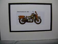 1942 Harley Davidson XA  Motorcycle Exhibit Celebration artist Illustrated