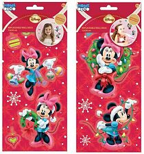 Childrens 2 Packs Christmas Reusable Sticker Set Minnie Mouse